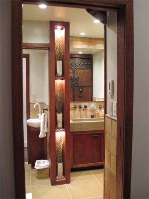 A view of the bathroom.