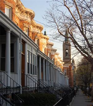 The Westergaard's street in Ridgewood, New York.