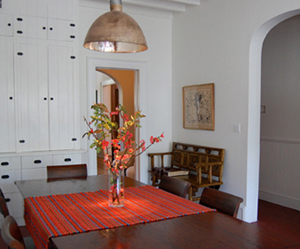 The dining room, looking back.