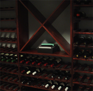 Row house construction means that the basement wine cellar easily stays at a constant, appropriate temperature.