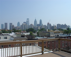 The panoramic view from the roof deck.