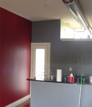 The master suite kitchen.