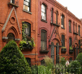 The Workman's Cottages in Cobble Hill.