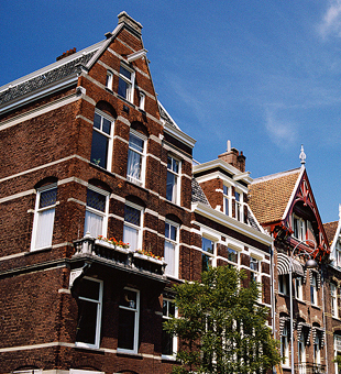 Row houses in Amsterdam.