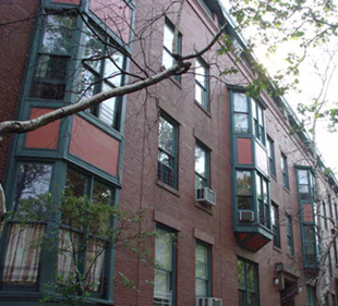 Cobble Hill apartments designed in a townhouse style.