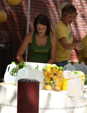 Fresh squeezed lemonade at the Headhouse Square Farmers' Market.