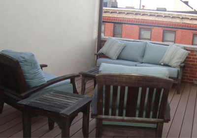 A private roof deck.