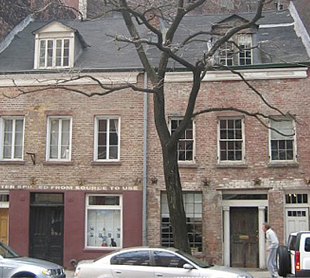 Fashionable 1820s homes on Greenwich Street.