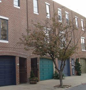 Ground floor garages in Philadelphia, PA.