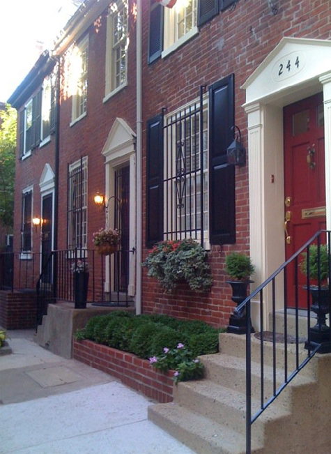 Federal row house in Philadelphia.