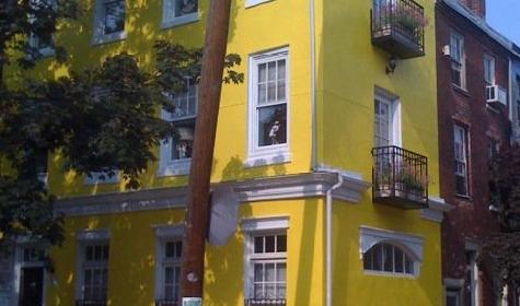 Greek revival row house in Philadelphia.