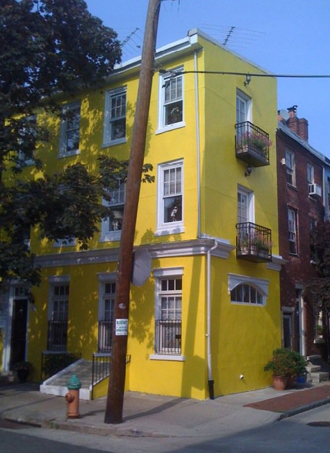 Greek revival row house in Philadelphia.