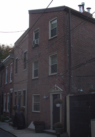 A small row home style in Philadelphia called a trinity.