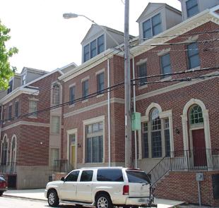 New row homes in Queen Village, Philadelphia.