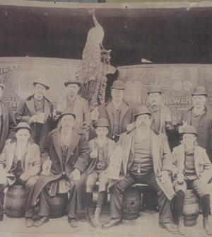 The brewers from the building's original owners.