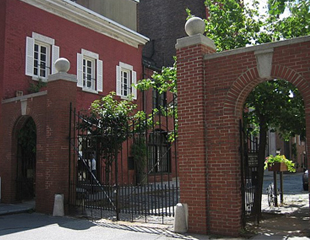 The gated entry to the Washington Mews, Greenich Village, New York.