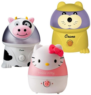 There is no reason why your cold mist humidifier has to be boring. Target is selling an assortment of super cute Crane humidifiers.