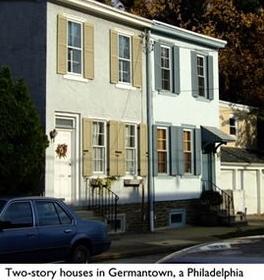 Sensible housing in Germantown, Philadelphia.