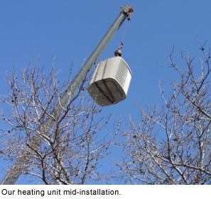 HVAC mid installation.