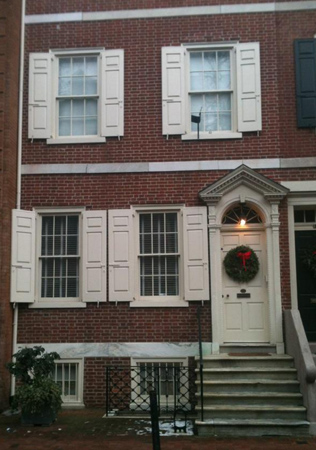 Federal row house in Philadelphia.