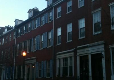 Greek Revival row homes in Philadelphia.