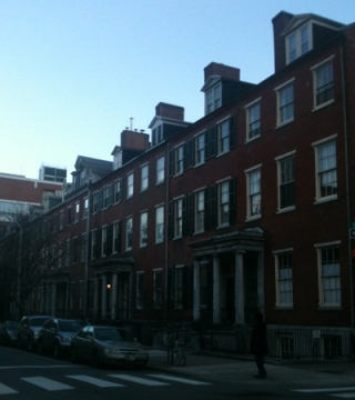 Greek Revival row homes in Philadelphia.