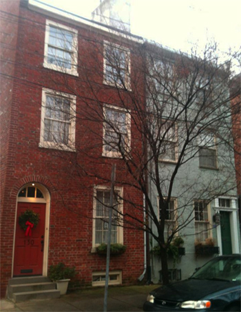 Philadelphia row house.