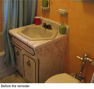 The bathroom before the remodel.