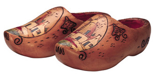Traditional dutch wooden clogs.