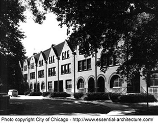 Queen Anne Row Houses in Chicago.