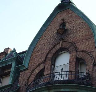 Unique windows and brickwork.