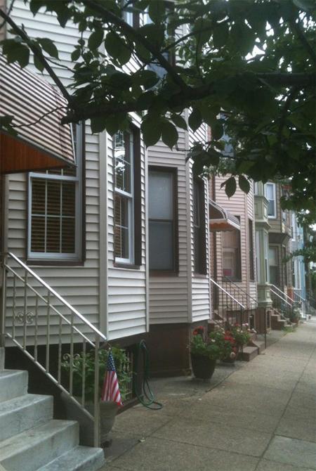 South Philadelphia row homes.