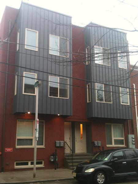 A modern row house in Philadelphia.