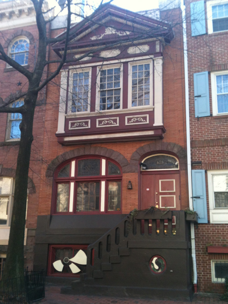 A row house in Philadelphia.