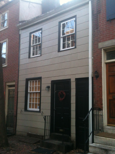 A rare wooden row house in Philadelphia.