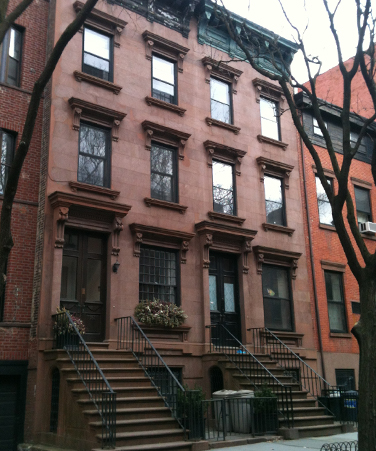Brownstone in Brooklyn Heights.