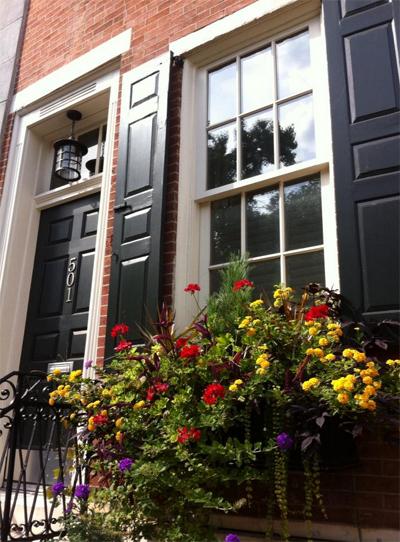 Philadelphia row house curb appeal.