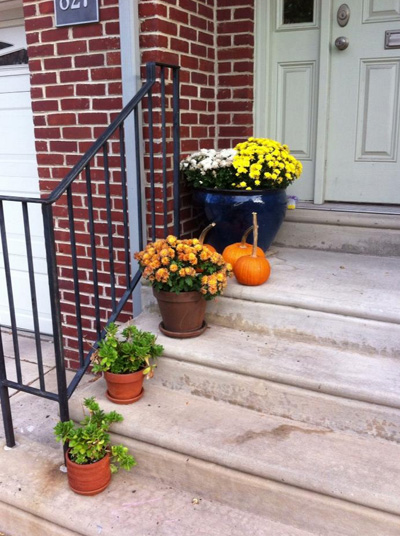 Don't forget to decorate your stoop!