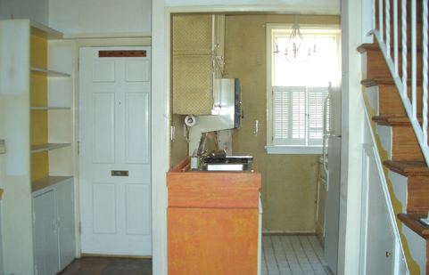 The original kitchen on Pomander Walk.