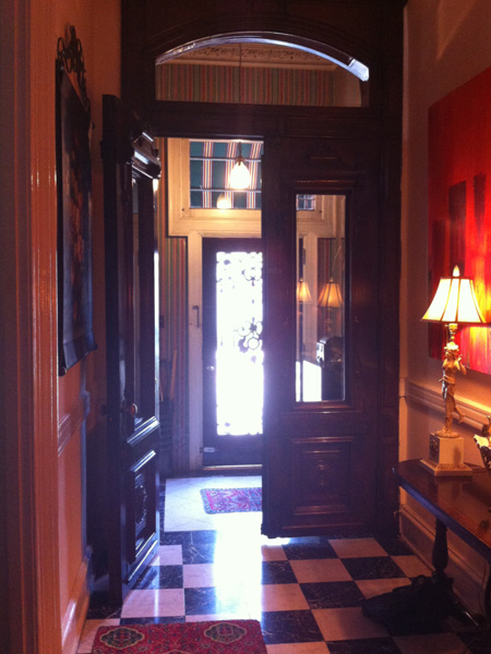 Entryway and hall - Greek Revival Row House, Philadelphia