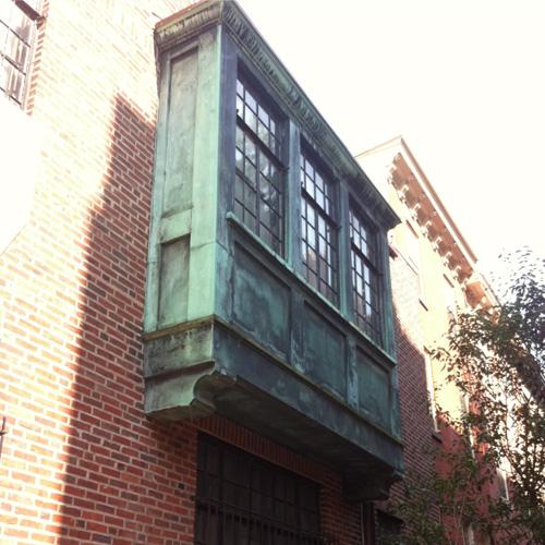 A unique tutor row house in Philadelphia.