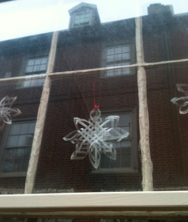 Christmas Holiday Row House Decoration