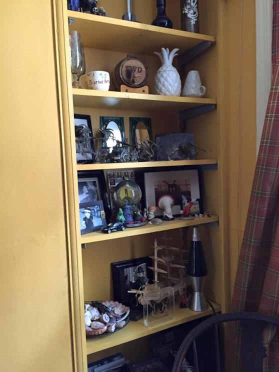 I'm starting with the details because nothing says eclectic like a collection of stuff.