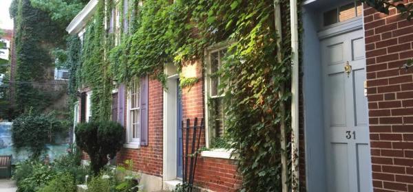 Hidden Row Houses in Philadelphia