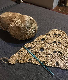 Virus Crochet Shawl